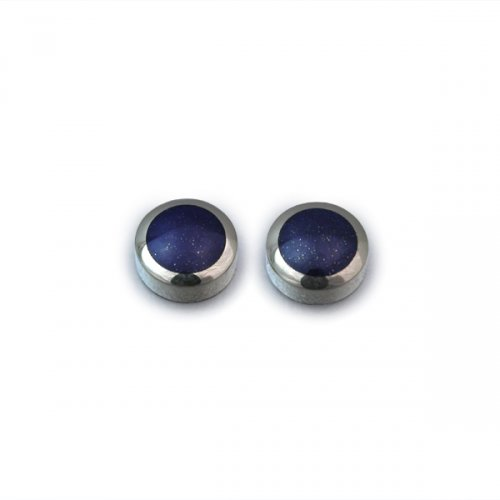 Engraved Silver Gifts Trays Salvers Lapis Lazuli Stud Earrings