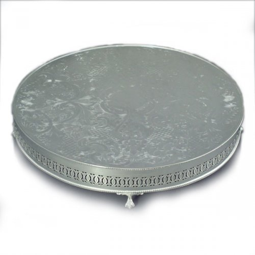 round wedding cake stand engraved silver gifts silver trays silver salvers 19331