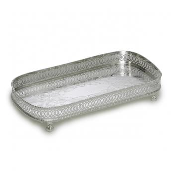Silver Plate Rectangular Cocktail Tray