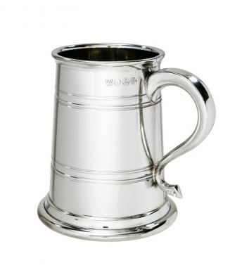 1 pint Fulwood Pewter Lined Tankard