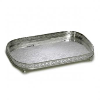 Rectangular Silver Plated Tray