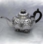 Old Sheffield Plate Roccoco Teapot - circa 1800