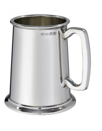Plain 1 pint Heavy Pewter Tankard