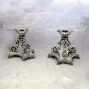 Pair of Silver Plated Victorian Comport Dishes