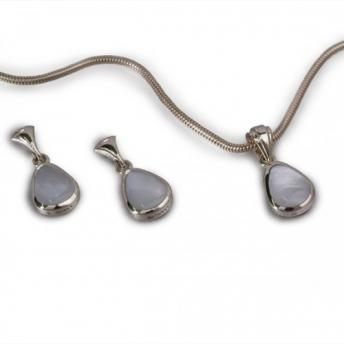 Mother of Pearl Earrings & Pendant