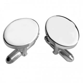 Oval Cufflinks - Plain Face
