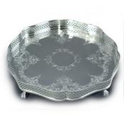 Round Georgian Pattern Tray