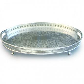 Oval Scallop Gallery Tray