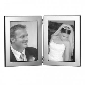 Sterling Silver Double Picture Frame