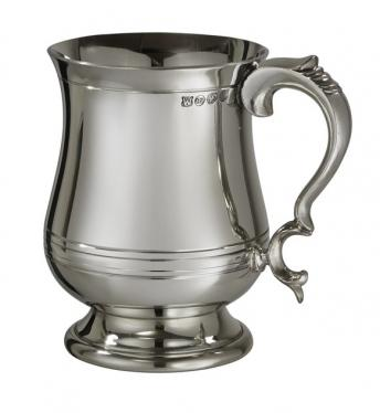 Extra Heavy Pewter Georgian 1 Pint tankard